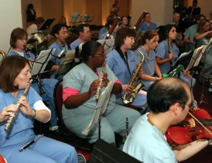 TMC Orchestra performing during the workday