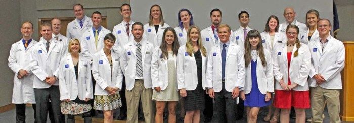 MSOP students don their white coats for the first time
