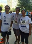 The family of BCM medical student Nrithya Sundararaman honor her at the race
