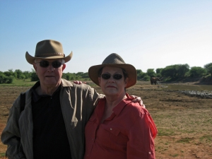 Major Bradshaw and his wife, Susan, in Africa