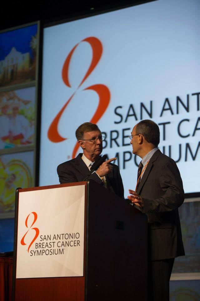 Dr. Kent Osborne with Dr. Carlos Arteaga of the Vanderbilt-Ingram Cancer Center
