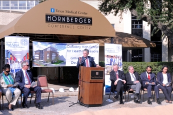 Dr. Paul Klotman speaking at the groundbreaking