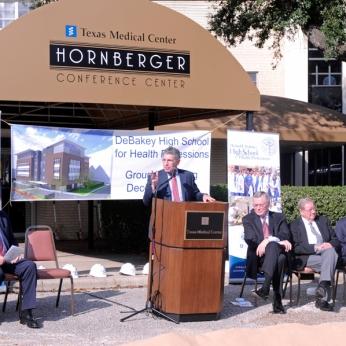 Dr. Paul Klotman speaking at the groundbreaking