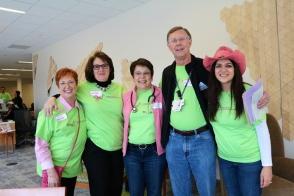Dr. Kent Osborne with tissue bank volunteers
