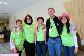 Dr. Kent Osborne with tissue bank volunteers