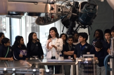Students learn about Dr. DeBakey's surgical suite