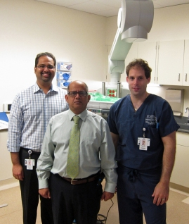 Dr. Qureshi with members of the Endoscopy Unit team
