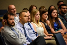 Students at the White Coat Ceremony