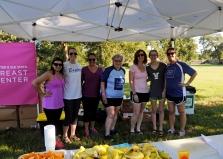 Volunteers at the Baylor-sponsored rest stop