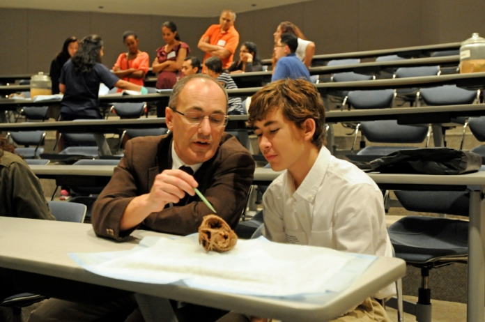 Dr. Matthew Ellis with his son, a DeBakey freshman