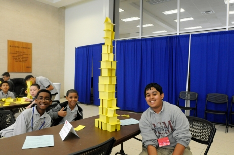 Building the tallest card tower takes teamwork!