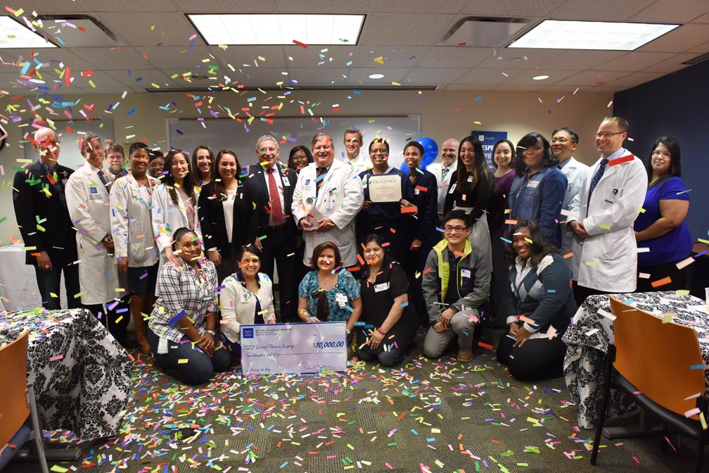 Thoracic surgery celebrates its recent Press Ganey success!