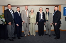 Robert and Janice McNair with McNair Scholars and Nobel Laureate Dr. Christiane Nüsslein-Volhard
