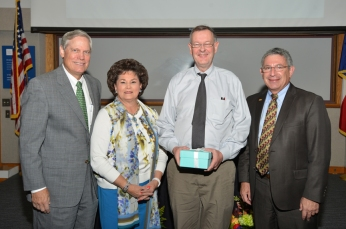 Corbin and Barbara Robertson with Dr. John Coverdale and Dr. Paul Klotman,