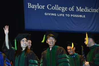 Medical students at Commencement 2016.