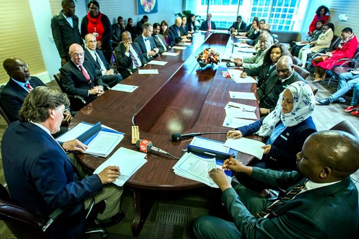 Signing the Memorandum of Understanding in Botswana. ( Photo by Smiley N. Pool / © 2016 )