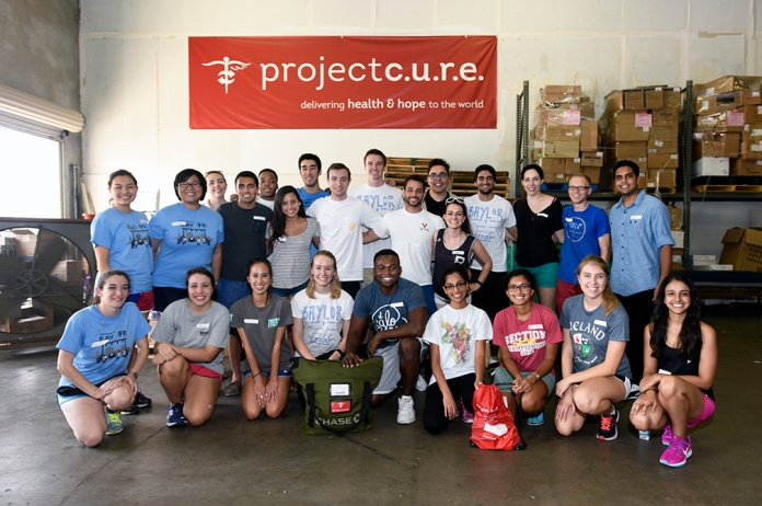 Baylor students in the community.