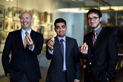 Dr. Andrew Sikora, Ravi Pathak and Hristijan Risteski.