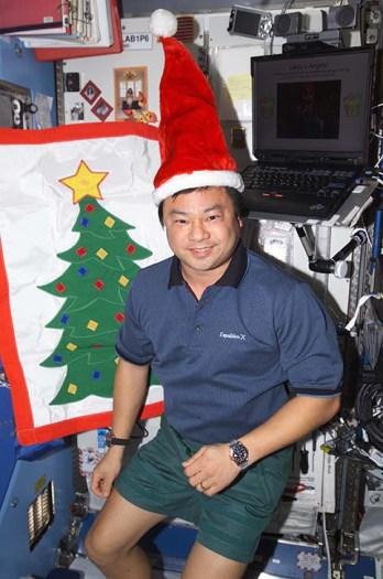Dr. Chiao feeling festive!