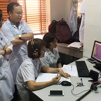 Healthcare professionals in Vietnam ...