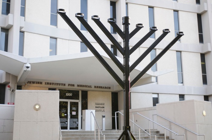 Menorah at Jewish Institute