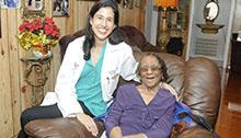Dr. Anita Major on a house call.