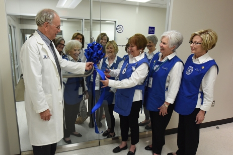 Ribbon cutting with Dr. Noebels.