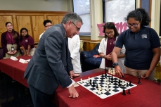 Klotman and Ryan student play chess