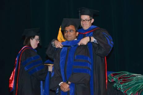 Graduate student hooding.