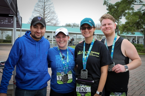 Amanda West and friends raising money through BeWell and Run Houston.