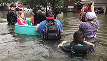 Harvey boat rescue