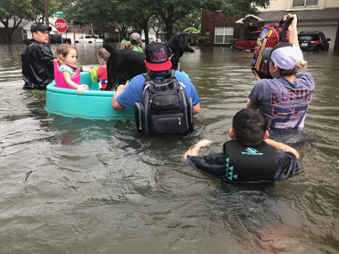 Baylor pediatrician helps with rescue efforts.