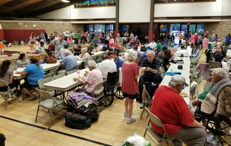 Kingwood shelter for Harvey evacuees.