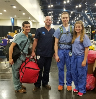Drs. Lucas Harvey, Chris Perkins, Brian Davis and Michelle Davis (volunteer).