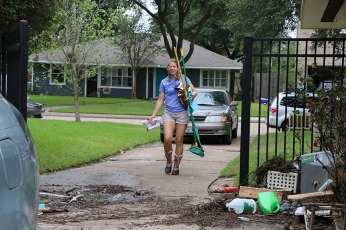 Helping a Baylor employee impacted by the storm.