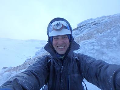 Alex Dahinton on the mountain.
