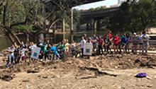 Volunteers at Buffalo Bayou