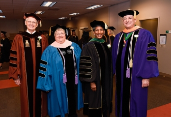 Dr. Robert McLaughlin, Dr. Rebecca Patton, Dr. Alicia Monroe and Dr. James Walker.