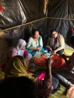 Dr. Banu at a refugee camp.