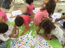 Refugee children in the their safety zone.