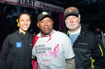 Carli Lloyd, Mayor Turner and Dr. Steven Curley.