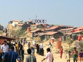 Refugee camp in Bangladesh.