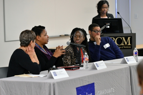 Panel discussion for Black History Month.