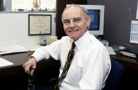 Carl Fasser in his office circa 1998.