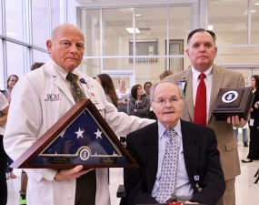 Being honored by the VA.
