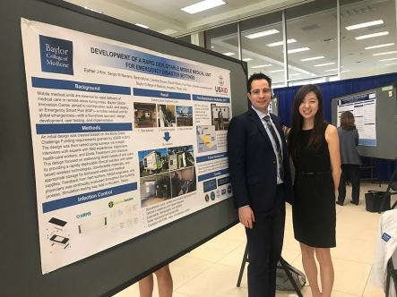 Sergio Navarro and Esther Kim presenting on the Smart Pod at Baylor.