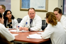 Dr. Eric Silberfein in a group discussion.