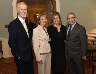 Ariana Huffington with Dr. Paul Klotman and Michael and Terry Huffington.