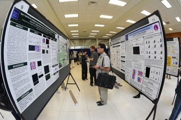 Posters at the research symposium.