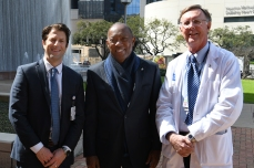 Drs. Ben Musher and Kent Osborne with Mayor Turner.